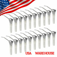 20 Dental Air Water Spray 3 Way Triple Syringe Handpiece w/ 40 Nozzles Tips E-AI