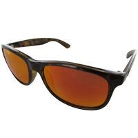 Ray Ban Womens RB4202 Andy Polarized Wayfarer Sunglasses, Tortoise/Orange Flash