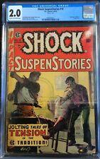 Shock SuspenStories #16 Dupe Editorial Rape Story EC Comics Pre Code CGC 2.0