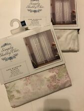 """New Simply Shabby Chic Floral Window Panel Pair 54"""" X 84"""" Lavender Lilacs Cott"""