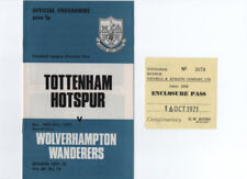Away Teams S-Z Wolverhampton Wanderers Domestic Club Competitions Football Programmes