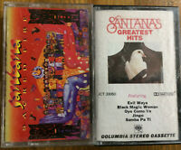 Cassette Tapes Lot Of 2 Santana Greatest Hits Sacred Fire