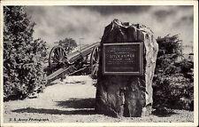 Camp Kilmer New Jersey USA Stamp AK 1953  Memorial Tablet honoring Joyce Kilmer