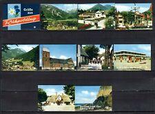 MATCHBOX LABELS-GERMANY. Ruehpolding views, set of 10 souvenir label, factory 7