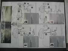 "Nintendo Paperwork - SNES INSTALLATION INSTRUCTION POSTER 19.5""X 27"" - BLANK BAC"