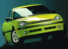 1995 Dodge NEON Coupe Brochure / Catalog with Color Chart: HIGHLINE, SPORT