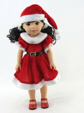 "Red Santa Dress Hat Fits Wellie Wishers 14.5"" American Girl Clothes"