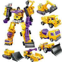 Construction Engineering Truck Robot Combiner Devastator Action Figure Kids Toy