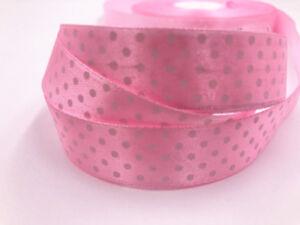 "10 Yards7/8"" 20mm Bulk Polka Dot Ribbon Satin Craft Supplies crafts U pick color"