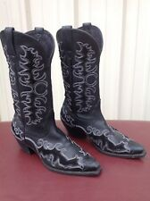 "ARIAT LADIES DANDY 12"" DEERTAN BLACK FASHION COWBOY BOOTS 10010263 8.5B"