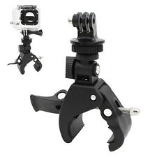 Best Handlebar Clamp Roll Bar Mount+Tripod Adapter For Go pro Hero 1 2 3 3+ WA