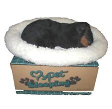 Realistic Lifelike Breathing pet sleeping dog Miniature Pinscher Holiday gift Ne