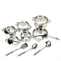 15 Piece Premium Grade Stainless Steel Cookware Set with Tri Ply Body