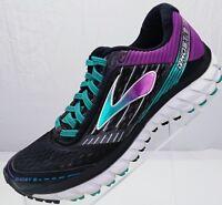 Brooks Ghost 9 Running Training Athletic Sneakers Womens 5 B Black Purple