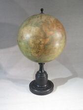 NOD-EYRARD 1867 ANCIEN GLOBE TERRESTRE SUR PIED BOIS NOIRCI LAROCHETTE BONNEFONT