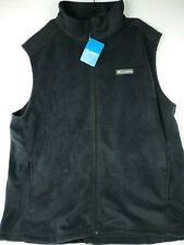 Columbia Mens Steens Mountain Black Fleece Vest Jacket Size 3XT Big & Tall NWT