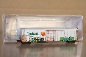 RED CABOOSE RM-21010-07 WEATHERED TROPICANA R-70-15 MECHANICAL REFER CAR 3082 nv