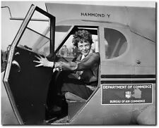 Amelia Earhart in Airplane - Remastered 8 x 10 Photo Aviation Art & Gifts