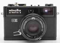 Minolta HI-Matic E Kamera Sucherkamera schwarz - Rokkor QF 1.7 40mm Optik