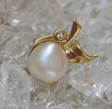 Perlenstick für Revers mit Perle Perlen Pearl Diamant in aus 585 Gold Perl Damen