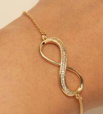 1.00 Ctw Infinite Cut Diamond Tennis Bracelet 14k Yellow Gold Very Elegant