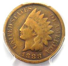 1888/7 Indian Cent 1C Overdate Penny - Certified PCGS VG Details - Rare Variety!
