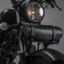 Cuir synthétique Roll OUTIL Sacoche de selle pour moto cruiser harley davidson