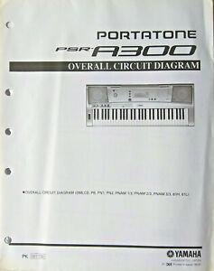 Yamaha PSR-A300 Keyboard Original Overall Circuit Diagram and Schematics Sheet