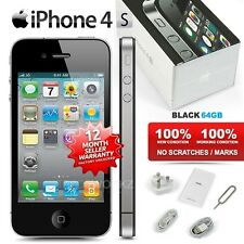 "New Condition Factory Unlocked APPLE iPhone 4S Black 64GB 3.5"" IPS Mobile Phone"