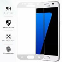 FULL COVER Gorilla White Tempered Glass Screen Protector Film for Samsung Galaxy