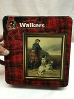 Walkers Shortbread Empty Tin - Scotland Hunting Dog Retrievers  ~ 6 x 9 x 2.5 in