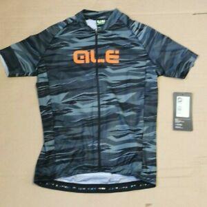 ALE Kids Cycling Short Sleeve Rock Jersey, Grey/Orange, Age 10. L20134559-10Y