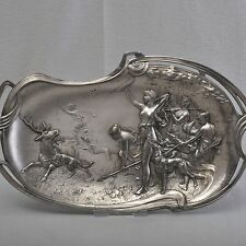 WMF Art Nouveau Bowl/Tray, Hunting Society of Diana, 41cm, Art Nouveau