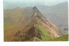 Postcard The English Lakes Striding Edge Helvellyn UP  (A12)