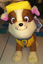 Lot 2 Plush Stuffed Dogs 14 In Paw Patrol Rubble + 16 In Kellytoy Schnauzer NWT