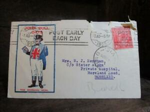"1925 JOHN BULL OATS ""The Morning Meal"" Parsons Bros. & Co. Pty. Ltd. GPO Box Mel"