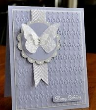 Stampin Up! Argyle Textured Impressions Embossing Folder –  New  - Retired