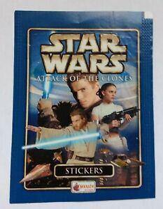 STAR WARS EPISODE 2 MERLIN TOPPS EMPTY STICKER PACKET Attack of the Clones