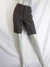 Vince Brown Wool Flannel Herringbone Walking Shorts Sz 4