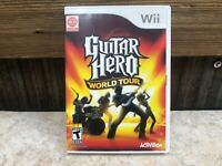 Nintendo Wii Game: Guitar Hero World Tour - Complete w/ Manual - Tested Working