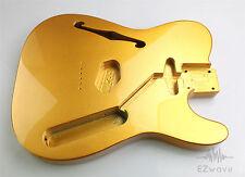 Gold Flake Finish Alder Semi Hollow Guitar Body for Thinline Tele