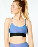 NWOT Koral Sweeper Iridescent Blue Sports Bra XS RRP $70