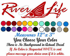 Redfish Tail River Life Vinyl Decal with Red Drum in the Center Sticker Fishing