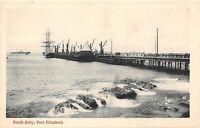 POSTCARD  SOUTH AFRICA  PORT ELIZABETH - NORTH JETTY - SHIPS    - CIRCA 1910
