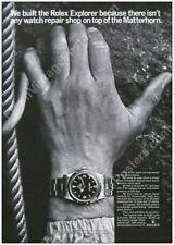 Rolex Explorer watch Matterhorn climber photo classic 1960s ad new poster 24x34