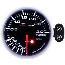 Manometro Strumento 52mm DEPO Pressione Turbo -1+3 BAR con Allarme e Picco