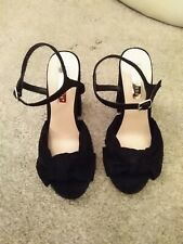 Black sandals **excellent condition**  Size 4 (UK)
