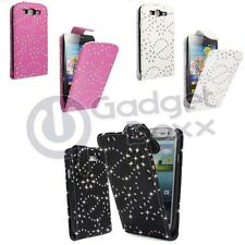 CASE FOR SAMSUNG GALAXY S3 DIAMANTE GLITTER FLIP PU LEATHER POUCH PHONE COVER