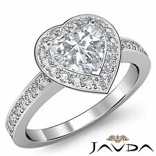 Glistening Heart Cut Diamond Fine Engagement Ring EGL F VS2 Platinum 950 1.35 ct