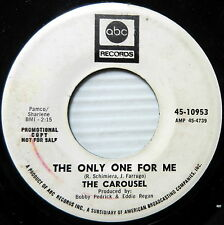 THE CAROUSEL The Only One For Me / One Mistake 45 Rock ABC 60'S Mod